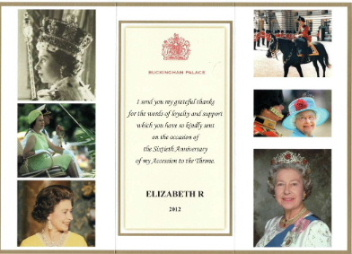 Message from Buckingham Palace 14.05.12