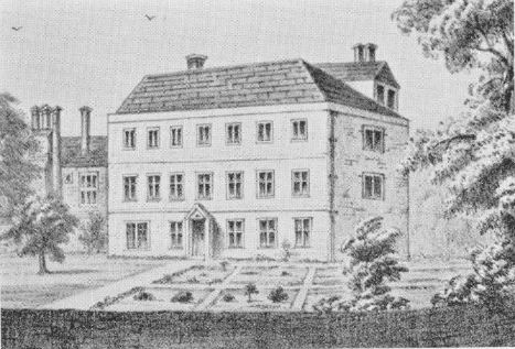 The old manor house, demolished in the 1800s