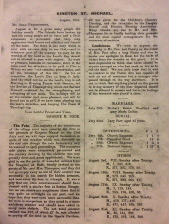Villages group gazette August 1924