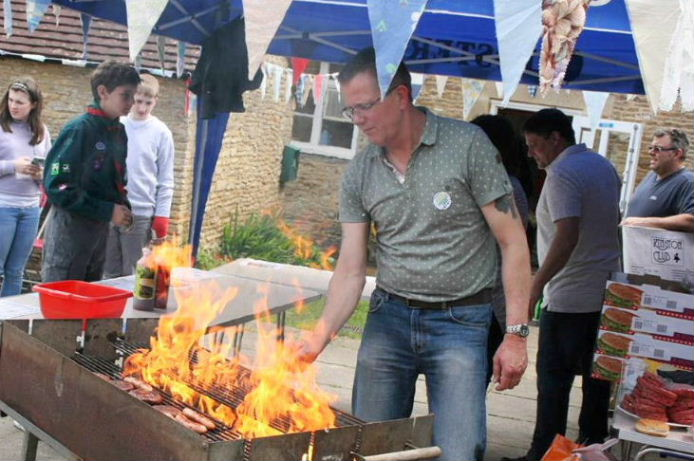 Rob at work on the barbecue, 20.05.17