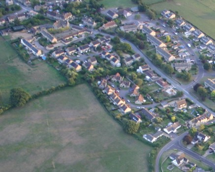Aerial view of Kington St Michael, September 05, taken by Gerry Elms