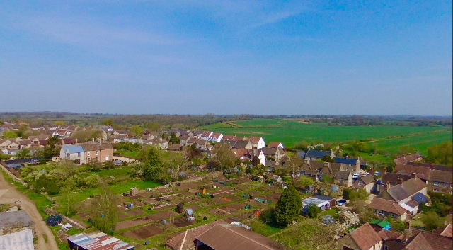 View over the allotments and beyond 04/2020