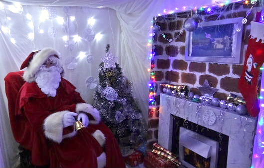 Father Christmas in his grotto 2012